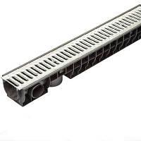 Желоб пластиковый со стальной решеткой Standartpark ЛВ-10.16.12-ПП N90122381
