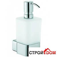 Дозатор для жидкого мыла с держателем Kludi E2 4997605 Хром/Матовое Стекло