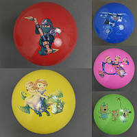Мяч детский 466-527 резиновый (500) 70гр, 23см, 5 цветов