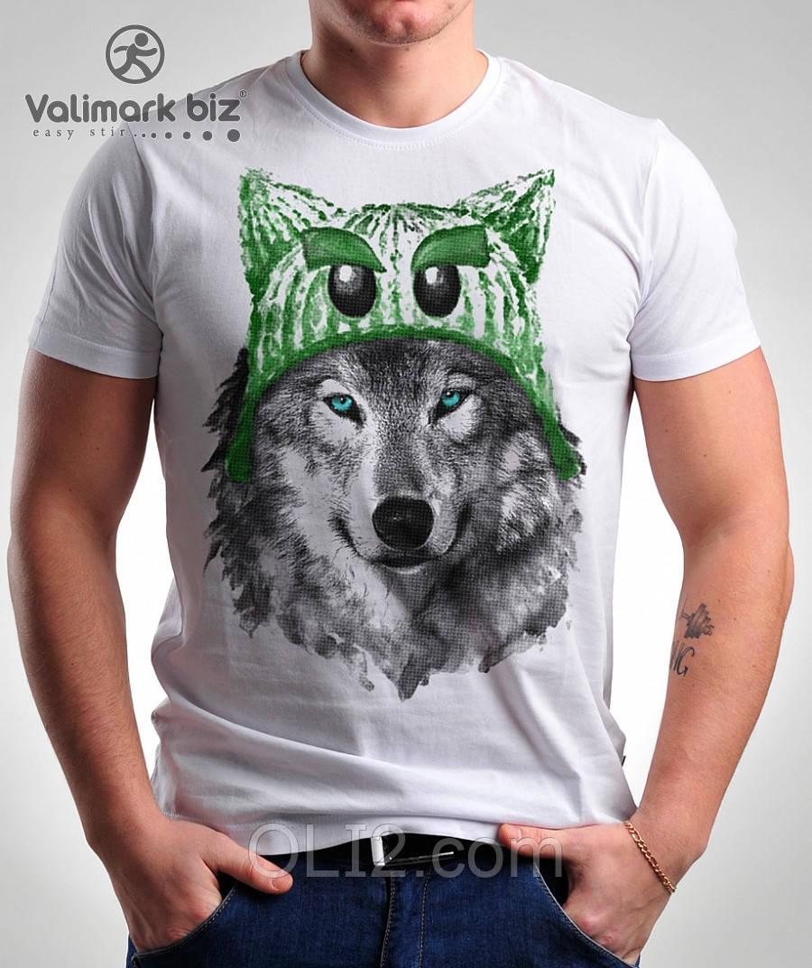 Футболка мужская  волк  Valimark-Biz Валимарк