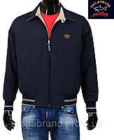 Куртка-ветровка молодежная( размер М) двухсторонняя Paul & Shark-046,черно- бежевая