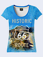 Женсая футболка Historic route 66