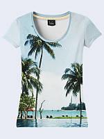 Женсая футболка Отпуск на острове