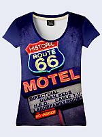 Женсая футболка Дорога 66 Мотель