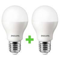 Светодиодная лампа (энергосберегающая) Philips LEDBulb E27 10.5-85W 3000K 230V A55 (8727900270105) набор 2шт.