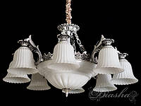 Люстра в античном стиле на 11 ламп 8292/8+3