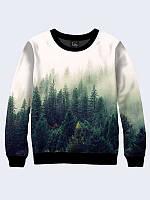 Женский свитшот Туманный лес