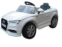 Электромобиль  T-795 Audi A3 WHITE легковая на р.у. 2*6V4AH с MP3 114*64.5*52.5