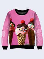 Женский свитшот Мороженое в рожке