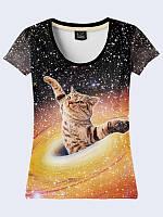 Женсая футболка Cat in Collapsar