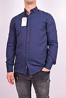 Рубашка мужская (цв.т.синий) Ronex 3043 Размер:44,46,48