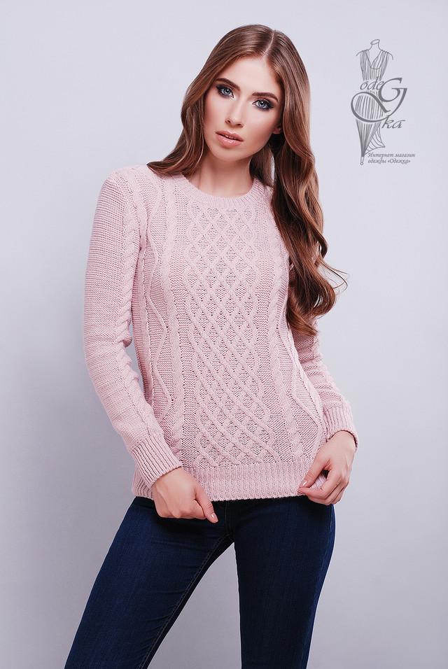 цвет  пудра Красивых женских свитеров Дебора