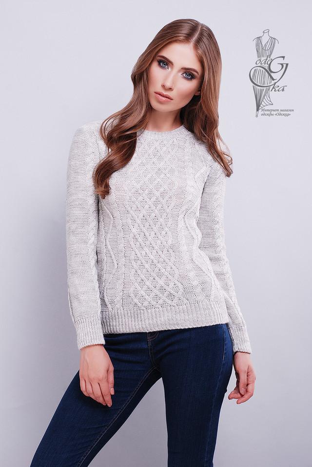 Светло серый цвет Красивых женских свитеров Дебора
