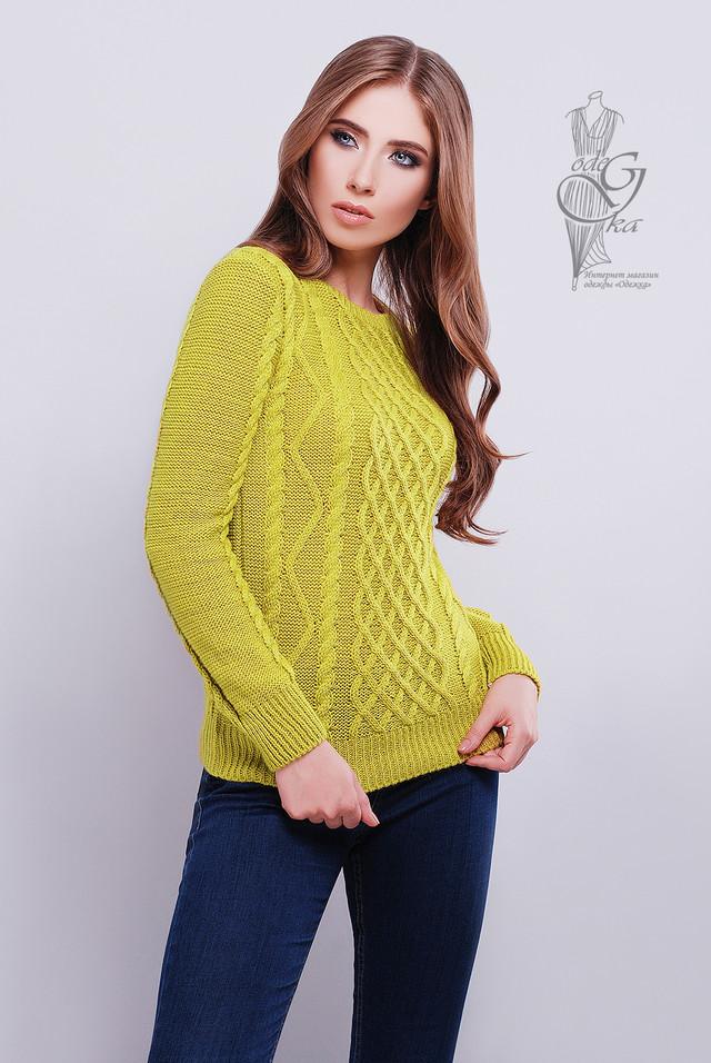 Цвет горчица Красивых женских свитеров Дебора