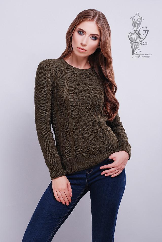 Шоколадный цвет Красивых женских свитеров Дебора