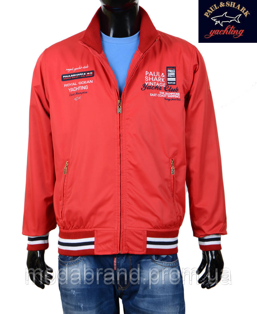 8b0c0e01 Куртка-ветровка мужская Paul Shark-100 красная -
