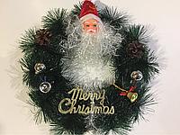 Рождественский, новогодний венок на двери, фото 1