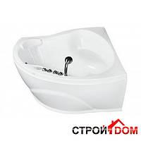 Угловая акриловая ванна Doctor Jet Gioia-2 142х142/150, фурнитура хром