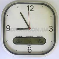 Настенные часы с термогигрометром и радио датчиком температуры