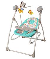 Кровать колыбель детская с электроприводом TILLY Nanny 3в1 TURQUOISE BT-SC-0005