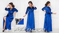 Вечернее платье велюр большого размера ТМ Минова размеры: 48-50, 52-54, 56-58