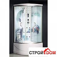 Гидромасажный бокс Atlantis AKL 60P-7 профиль хром, стекло прозрачное, задние стенки рисунок