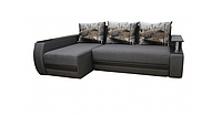 Угловой диван Garnitur.plus Граф серо-коричневый 245 см