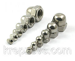 Колпачковые гайки М2 ГОСТ 11860-85 сталь А2, А4
