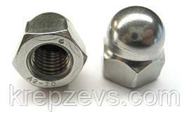 Колпачковые гайки М3 ГОСТ 11860-85 сталь А2, А4