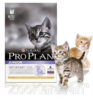 Сухой корм для котят Курица Рис Pro Plan JUNIOR CHICKEN&RICE  1.5 кг