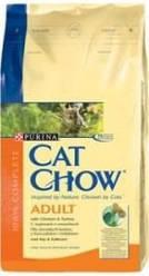 Сухой корм Cat Chow Adult с курицей и индейкой, 15 кг