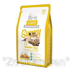Brit Care Cat Sunny Beautiful Hair Salmon & Rice. Для длинношерстных кошек, 2 кг