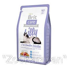 Brit Care Cat Lilly Sensitive Digestion. Для кошек с чувствительным пищеварением, 2 кг