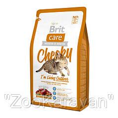 Brit Care Cat Cheeky I´m Living Outdoor. Для кошек выходящих на улицу, 2 кг