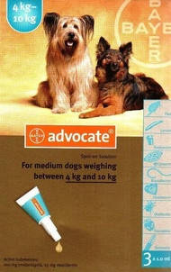 Advocate (Адвокат) капли для собак весом от 4 до 10 кг, фото 2