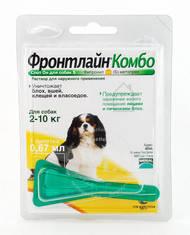FrontLine Combo S капли на холку для собак от 2 до 10 кг
