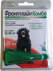 FrontLine Combo XL капли на холку для собак от 40 до 60 кг, 3 пипетки