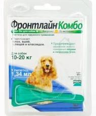 FrontLine Combo M капли на холку для собак от 10 до 20 кг