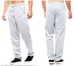 Мужские спортивные теплые  штаны 371 серые