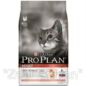 Сухой корм для кошек Лосось Рис Pro Plan ADULT SALMON&RICE 1.5 кг