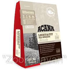 Сухой корм для собак с избыточным весом ACANA LIGHT & FIT 11,4 кг