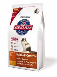 Hills SP Feline Hairball Control Indoor Adult. С Курицей 1,5 кг