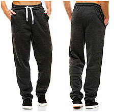 Мужские спортивные теплые  штаны 371 темно-серые