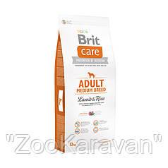 Сухой корм для собак средних пород Brit Care Adult Medium Breed Lamb & Rice, 3 кг