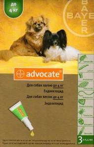 Advocate (Адвокат) капли для собак весом до 4 кг