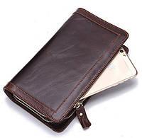 Мужской кожаный клатч кошелек бумажник MS Collection! Натуральная кожа!
