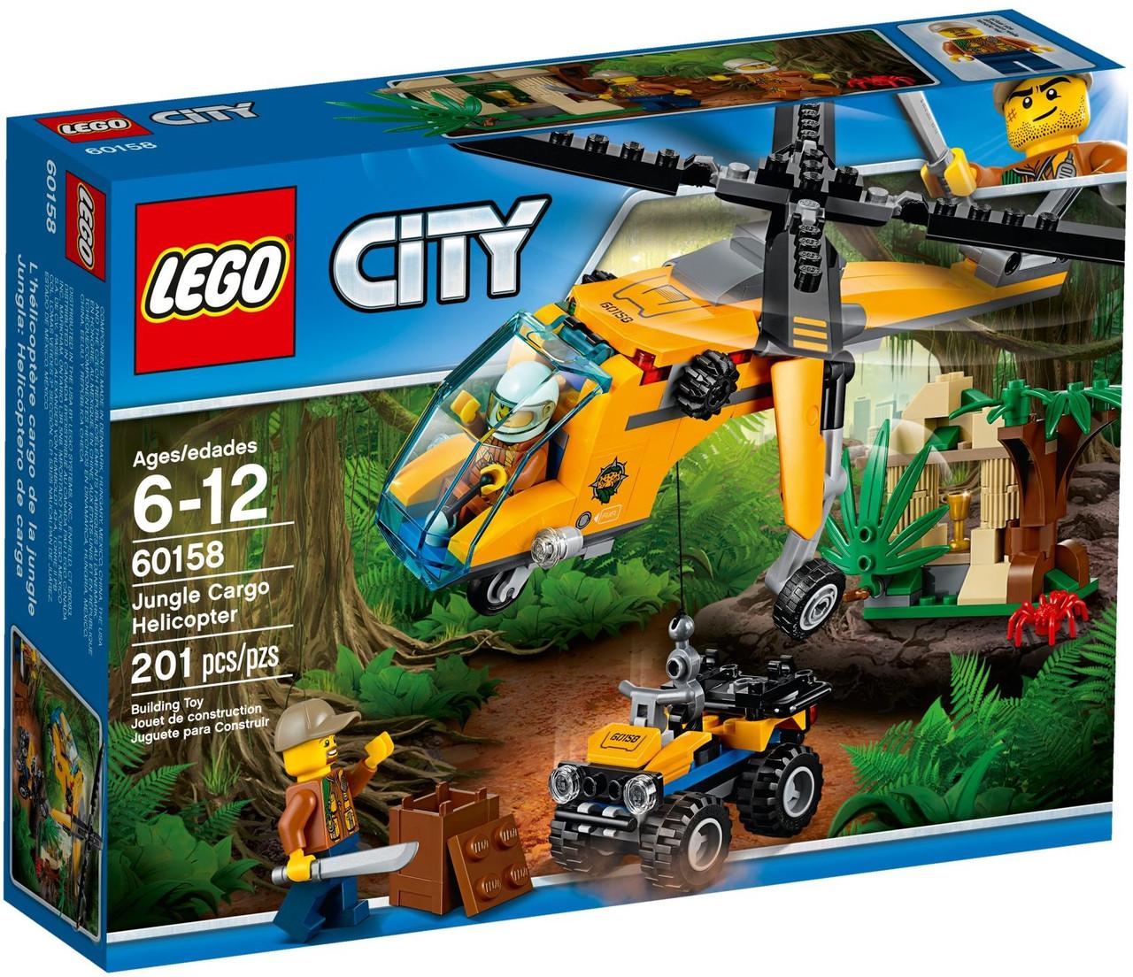 Лего Сіті Джунглі: вантажний гелікоптер 60158