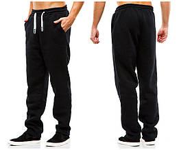 Мужские спортивные теплые  штаны 371 темно-синие