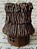 Керамічний дзвоник хатинка з соломи D-8 cм H-9 см Керамический звонок домик из соломы