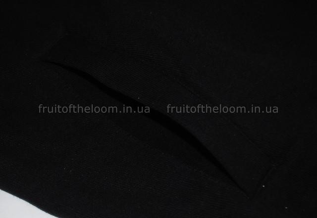 Чёрная мужская классическая кофта на замке